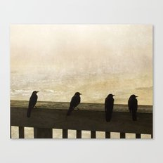 Four Blackbirds Canvas Print