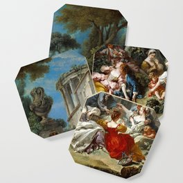 "François Boucher ""The Bird Catchers"" Coaster"