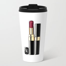 LIPSTICK PRINT Makeup Print Lipstick Print,Makeup Painting Glam Room  Fashion Painting Travel Mug