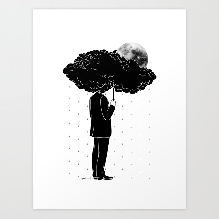My life is a Storm Art Print