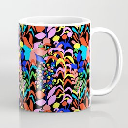 60's Fiesta Floral 2 in Black Coffee Mug