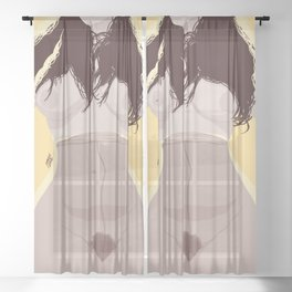 Untitled #62 Sheer Curtain