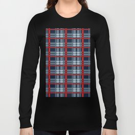 Red Line White And Red Lumberjack Flannel Pattern Long Sleeve T-shirt