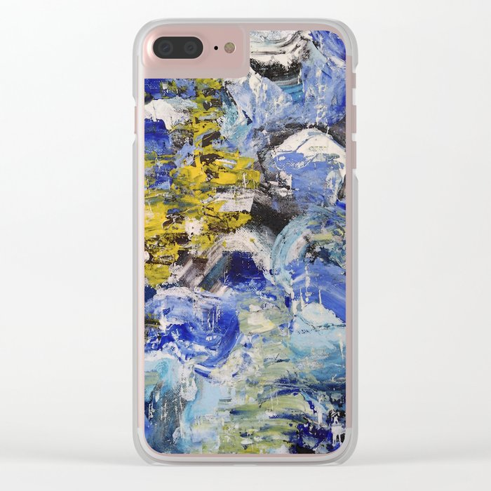 Abstract painting 5 Clear iPhone Case