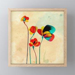 Exotic Watercolor Flower Framed Mini Art Print
