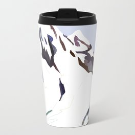 Mountains In The Cold Design Travel Mug