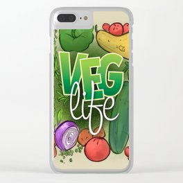 Veg Life Clear iPhone Case