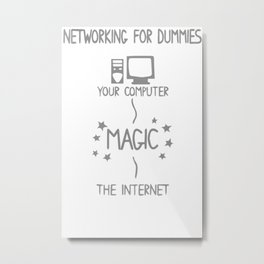 NETWORKING FOR DUMMIES Metal Print