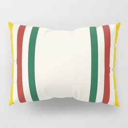 Rustic Lodge Stripes Black Yellow Red Green Pillow Sham