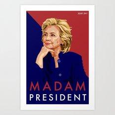 Hillary Poster  Art Print