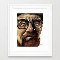 heisenberg Framed Art Prints featuring Heisenberg by Al Barazi