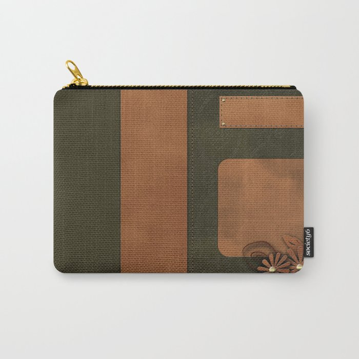 """A series of """"Covers for notebooks"""" . Brown and green leather. Carry-All Pouch"""