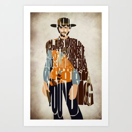 Blondie Poster from The Good the Bad and the Ugly Art Print