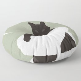 Cat 2 Floor Pillow