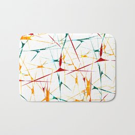 Colorful Splatter Abstract Shapes Bath Mat