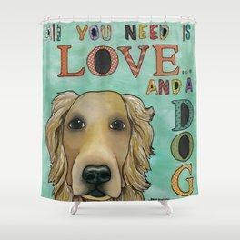 Love Dog Shower Curtain