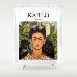 Kahlo - Self-portrait Shower Curtain
