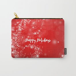 Modern stylish red white Christmas typography Carry-All Pouch
