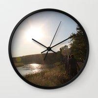 camping Wall Clocks featuring Camping by RMK Creative