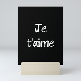 Je t'aime Black Mini Art Print
