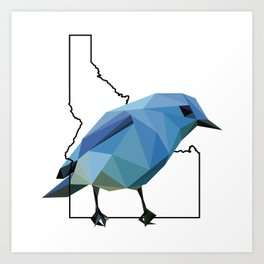 Idaho – Mountain Bluebird Art Print