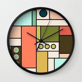 Blocked Modern Cubist Design Wall Clock