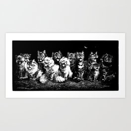 The Pack at Night Art Print