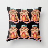 garfield Throw Pillows featuring Garfield by Adrienne S. Price
