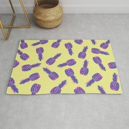 modern pink Pineapple pattern design - yellow Rug
