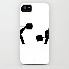 Heavy weight lifting up and down iPhone Case