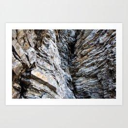 rocks by the sea in montenegro Art Print