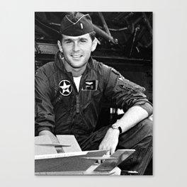 George W Bush in the Texas Air National Guard Canvas Print