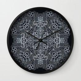 Crocheted Lace Mandala Wall Clock