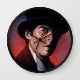 Damon in a Tophat Wall Clock