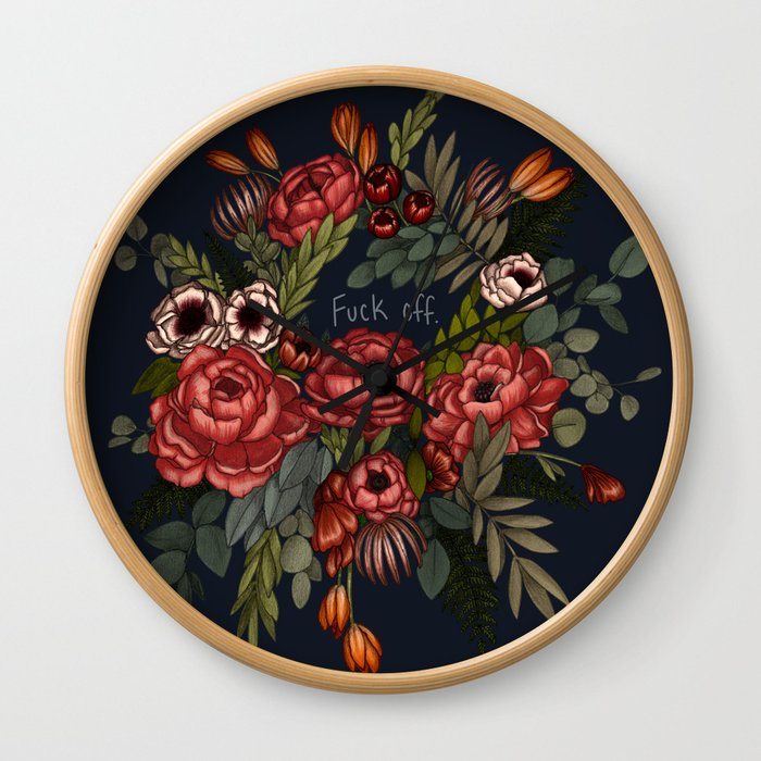 To Whomever it May Concern: Fuck Off Wall Clock