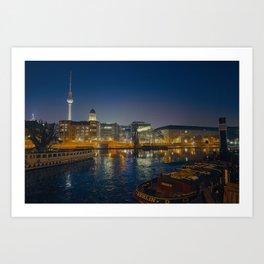 Night in Berlin Art Print