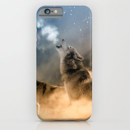Howling Wolves Moonlight Wolf Wild Animals Moon iPhone Case
