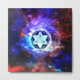 Sacred Geometry Merkaba Abstract Metal Print