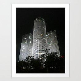 Night in Tel-Aviv Art Print