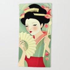 Geisha: Rose Beach Towel