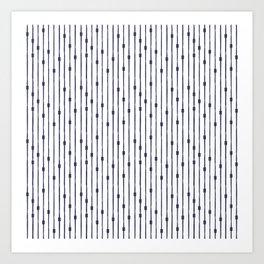 Modern Stripes Pattern Art Print