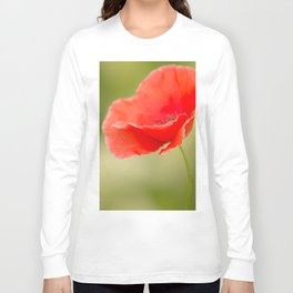 Miss you so much Red Poppy #decor #society6 Long Sleeve T-shirt