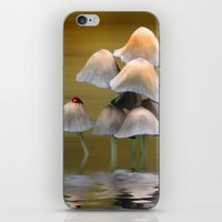 mushrooms iPhone & iPod Skins featuring Mushrooms by Shalisa Photography