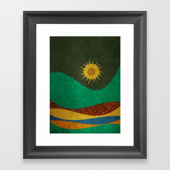 color under the sun (III) Framed Art Print
