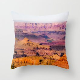 desert view at Grand Canyon national park, USA Throw Pillow