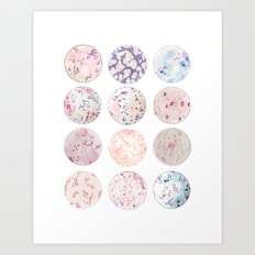 Microbe Collection Art Print