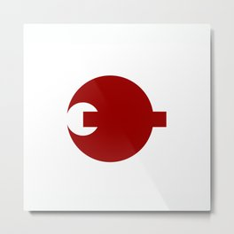 nara region flag japan prefecture Metal Print