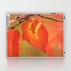 Shadowed Orange/Red Leaf Laptop & iPad Skin