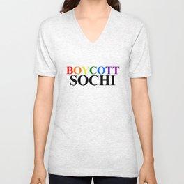 Boycott Sochi Unisex V-Neck