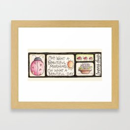 sunshine and ladybugs Framed Art Print